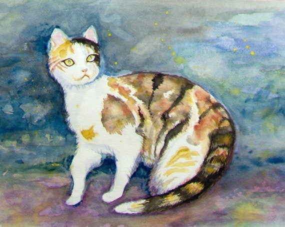 Calico Cat Original Painting