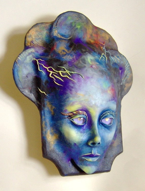 Goddess Of The Storm Mask Face Sculpture