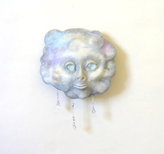 Little Raining Cloud Face Mask Sculpture