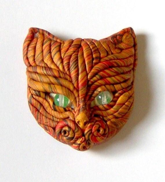 Cat Face Brooch Sassy