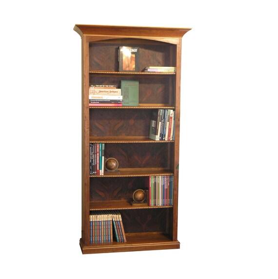 Walnut Burl Inlay bookcase