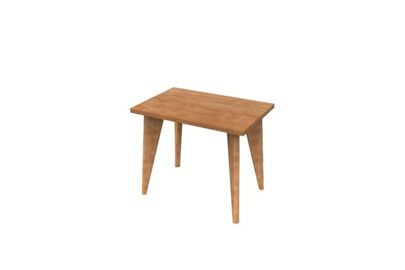 Mid Century Modern Side table Mid Century Modern Danish Solid Wood Organic Finish