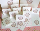 Cupcake 2 Stationery Set - printable cupcake card, favor tags, gift tags, thank you tags, hang tag, DIY - instant download PDF File