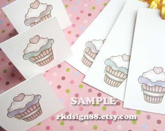 Valentines Day Gift, Lovely Cupcakes, Gift Tags, Instant download, PDF printables file, favor tags, party printables, gift for her or mom