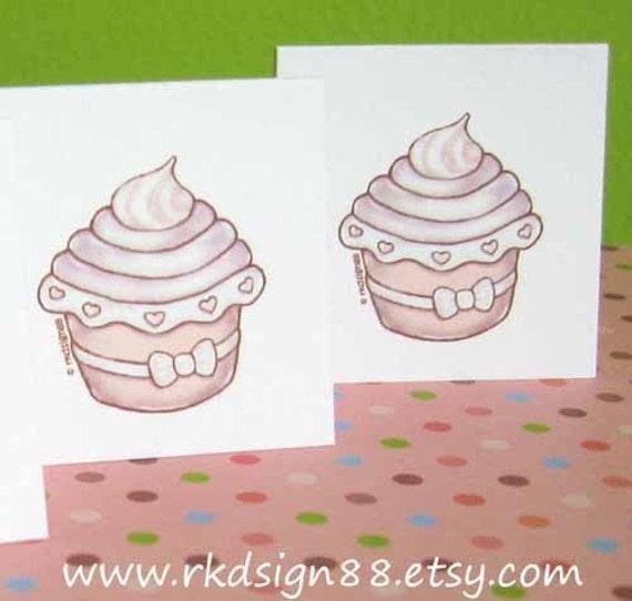 Cupcake 2 - Stationery Set Printable PDF File
