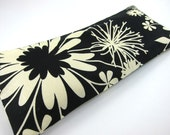 Eye Pillow with Removable Cover (100% Organic Flaxseed and Lavender Filler) - Dandelion on Black