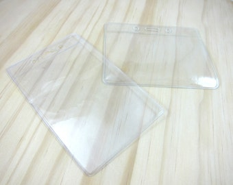 Clear Vinyl ID Card Holder / Badge Holder (Add-on) - Horizontal or Vertical