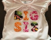 SALE Big Sister Sibling Shirt, Size 18-24 - Ready to Ship