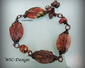 Chantal, copper Braclet