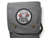 Lost in Space Robot - Canvas Messenger Bag - Field Style for School, College, Vacation, Book, Laptop