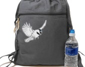 Backpack Chickadee Print