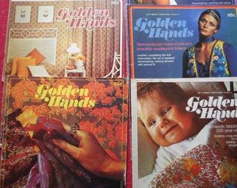 6 Vintage Golden Hands Magazines