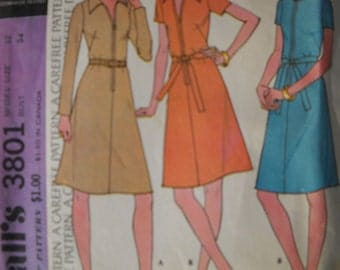 Vintage Mccalls Womens Dress Pattern