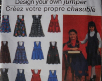 Simpicity Girls Jumper Dress Pattern