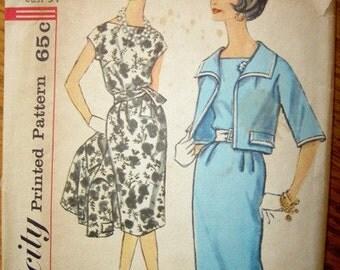 Vintage Simplicity Dress and Jacket Pattern