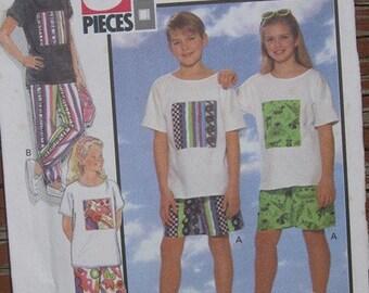 Teen Short and Tshirt Pattern uncut
