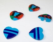 Southwestern Inlay Look Gemstone Bear Bead and Heart Beads
