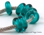 Teal 026 Big Hole Bead Accent by Twiggy fits all BHB chains - SRA