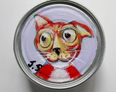 Cat Painting on a Can Number Five