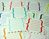 Scallop Journaling Labels