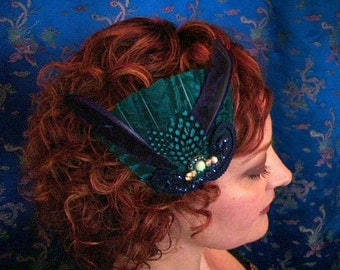 fantastical feather hairpiece