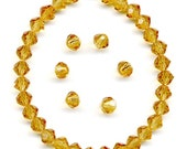 Vintage Topaz Crystal Beads 4mm Swarovski 5309 - 36 Pcs
