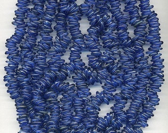 Antique Dogon Trade Beads Cobalt Blue Glass Rings 50 Pcs.