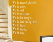 In This Home... Wall Decals - Wall Quote - Your Choice of Color