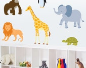 Zoo Animals - Full Color - Printed Wall Decals
