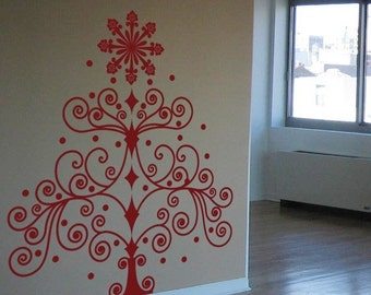 Christmas Tree - Wall Decal - Your Choice of Color