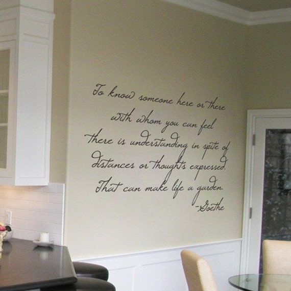 Goethe Life Is A Garden Wall Quotes And Wall Decals Your