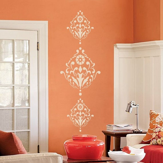 Ornate - Victorian - Baroque - Set of Three - Vinyl Wall Decals - Your Choice of Color