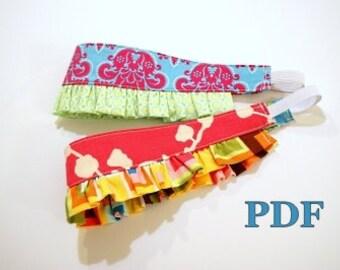 INSTANT DOWNLOAD Reversible Headband with Ruffle Pattern PDF baby toddlers girls tweens women easy diy gift idea handmade easter cheer favor