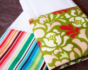INSTANT DOWNLOAD Boutique handmade burp cloth tutorial pdf bundle price easy sewing pattern instructions for both diy baby shower gift