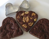 Heart Shaped Fudge Brownies, set of six