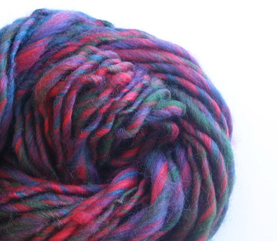 Fruition.  Handspun, Hand Carded Art Yarn Skeinlet