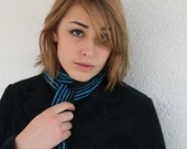 HOLIDAY SALE ELECTRICAL BLUE KNIT SCARF