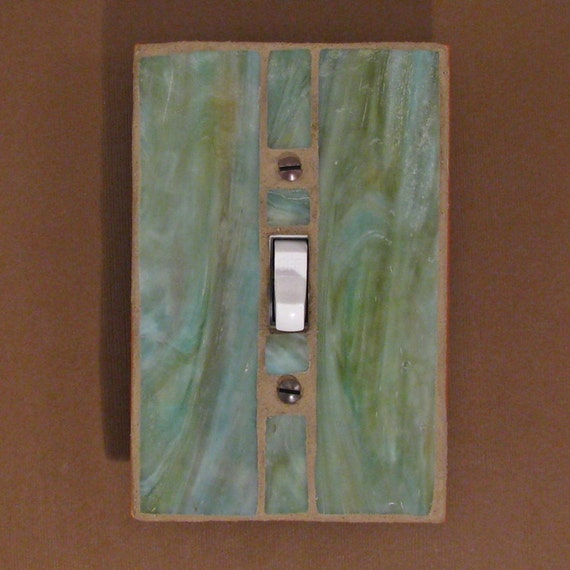 Stained Glass Single Toggle Switch Plate By