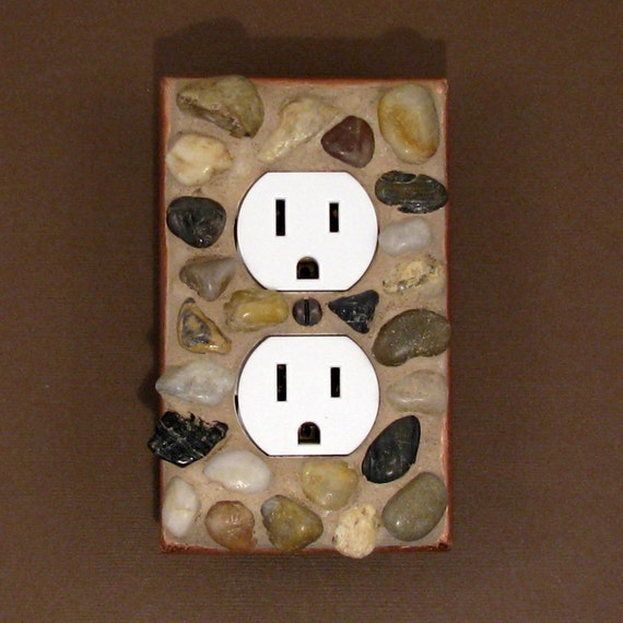 Pebble Rock Mosaic Outlet Cover Plate 3806