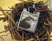 A WRENNY FOR YOUR THOUGHTS Soldered Glass Wren Pendant