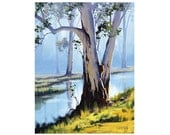 Oil Painting Eucalyptus trees Landscape By Award winning Artist