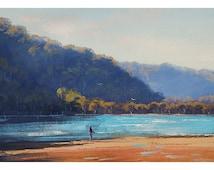 FISHING PAINTING BEACH Decor by G.Gercken