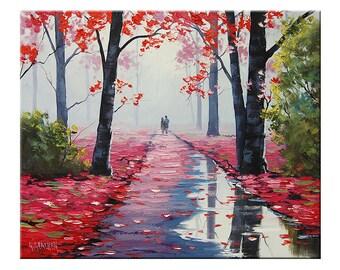 Award winning Artist tree Painting Landscape  by G.Gercken