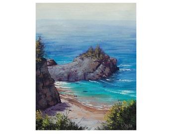 Big Sur Oil PAINTING CALIFORNIA SEASCAPE Beach Painting