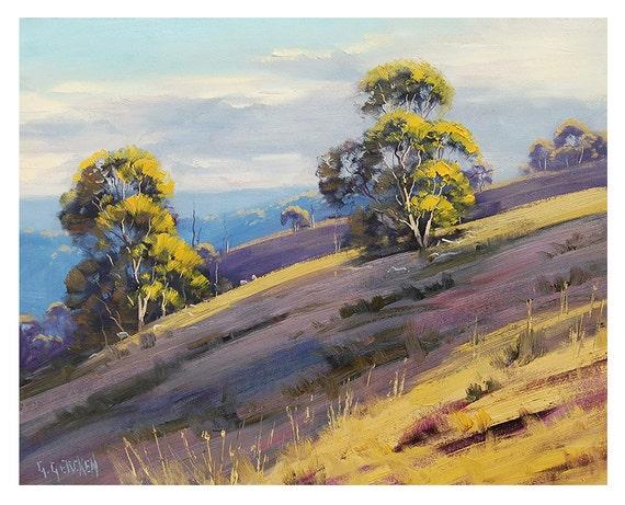 ORIGINAL OIL Landscape PAINTING Pastoral Fine Art  Plein air Australia Award winning Artist Graham Gercken