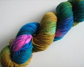 Growl Tiger- Superwash Sock Yarn- BFL/Nylon- Colourway  Princess-- 100g
