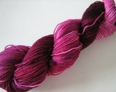 Growl Tiger- Superwash Sock Yarn- BFL Nylon- Raspberry- 100g