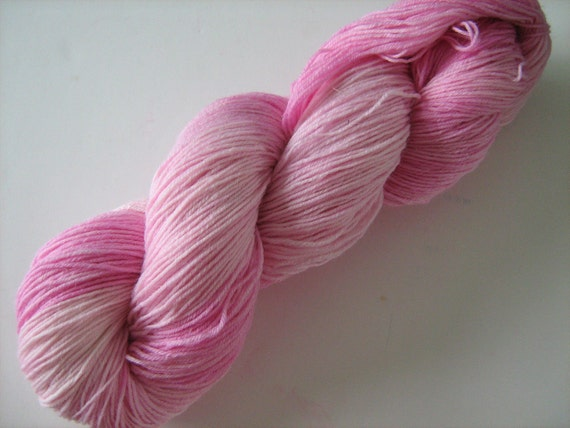 Growl Tiger- Superwash Sock Yarn- BFL/Nylon- Candy Floss-100g