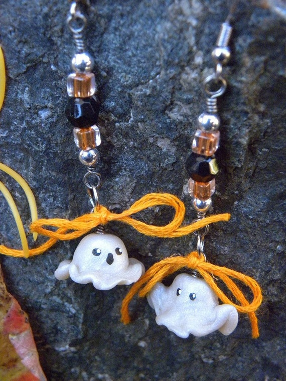 CLEARANCE SALE - Halloween Ghost Earrings