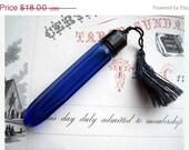 RESERVED SALE Vintage Perfume Bottle - Evening In Paris - Cobalt Blue